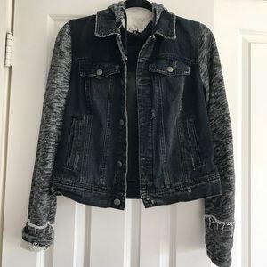 Free people black jeans jacket